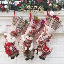 FUNNYBUNNY Christmas Bag Gift Pendant Stocking Candy Tree Sock Decor Hanging Kids Large New