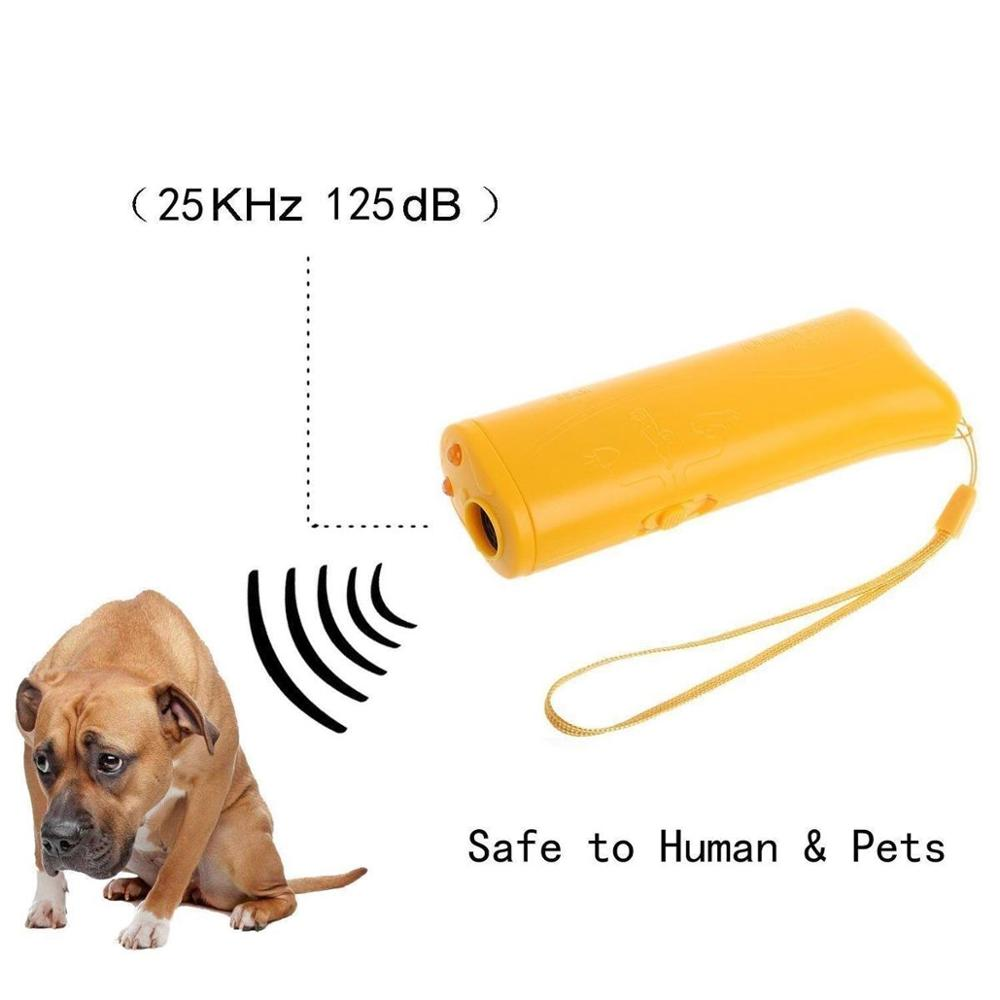 3 in 1 Ultrasound Pet Dog Repeller Anti Barking Stop Bark Training Device Trainer LED Ultrasonic Anti-barking Ultrasonic Devicer(China)