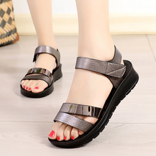 2019 new summer women sandals shoes  Casual Microfiber Wedges Fashion Open Toe Womens Sandal