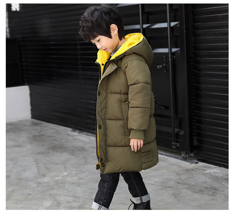 2018 Winter Girls Warm Jacket Kids Long Style Hooded Coat Children Plus Velvet Cotton Jacket Girl Thick Cotton Padded Outwear (17)