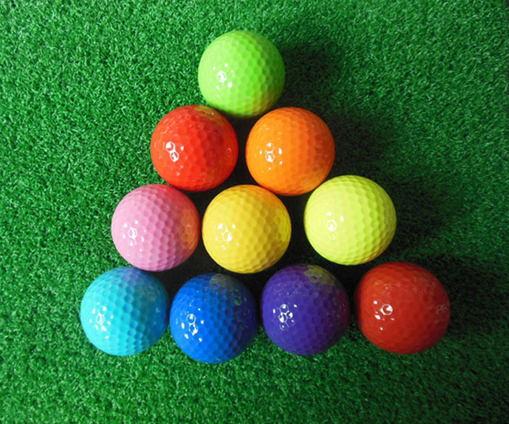 12pcs one dozen Wholesale blank mini golf course ball assorted colored golf ball