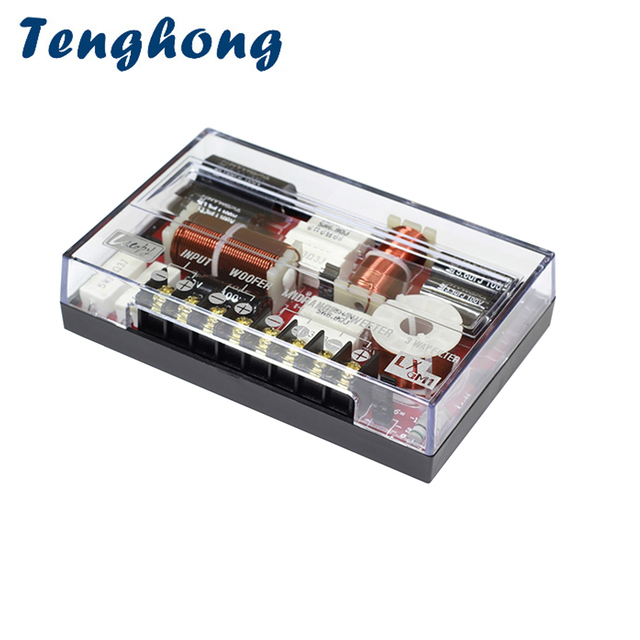 Tenghong 3 Way Audio Speaker di Crossover 200W Treble Mediant Basso Auto Altoparlante Divisore di Frequenza Altoparlante Per Auto Modifica FAI DA TE
