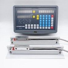 Pantalla de SNS 2V para torno de fresado, pantalla de 5um, lectura Digital DRO de 2 ejes y EIA 422 A TTL de 0.005mm, Sensor codificador de escala lineal Digital
