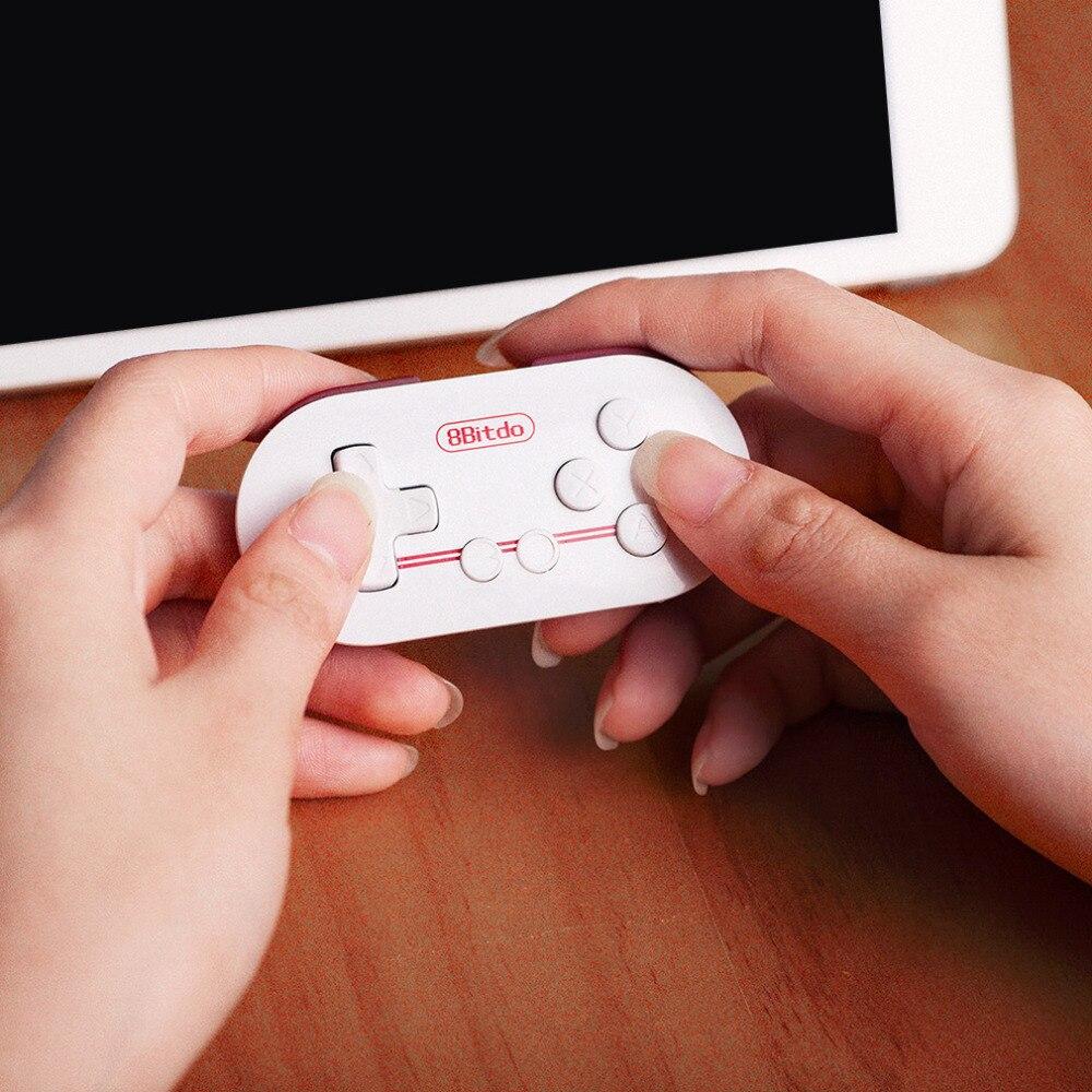 NUOVA Mini White Portatile 8 Bitdo ZERO ABS Senza Fili di Bluetooth GamePad Controller di gioco Joypad Joystick con 32bit CPU ARM In magazzino!
