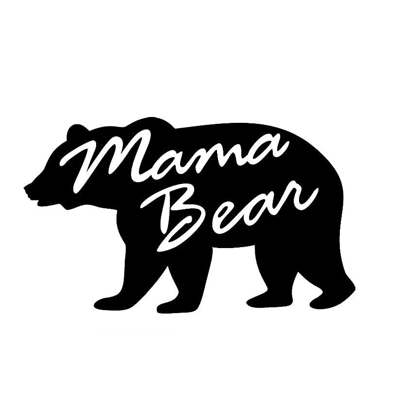 Alaska State Shaped Bear Flag Sticker Decal Funny Danger Motorcycle Car Decor