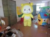 Lovely Yellow Panda mascot costume, In Stock,Funny Yellow Bear,Cartoon Character Costume, Carnival Costume