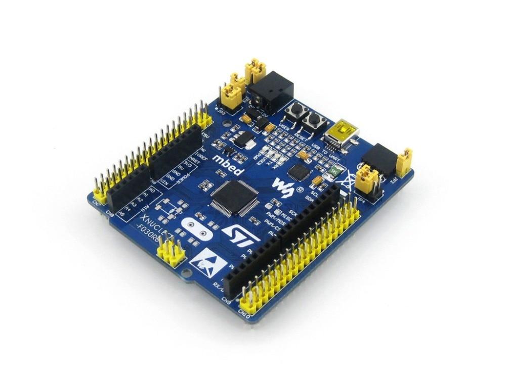 module STM32 XNUCLEO-F030R8 STM32F030R8T6 32-Bit ARM Cortex M0 Development Board Compatible with Original NUCLEO-F030R8 module xilinx xc3s500e spartan 3e fpga development evaluation board lcd1602 lcd12864 12 module open3s500e package b