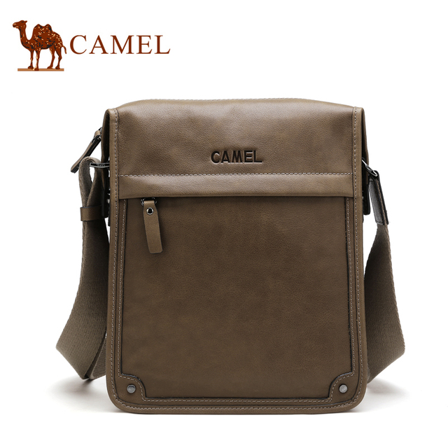Camel 100 Genuine Leather Men Messenger Bags Promotion Shoulder Handbags