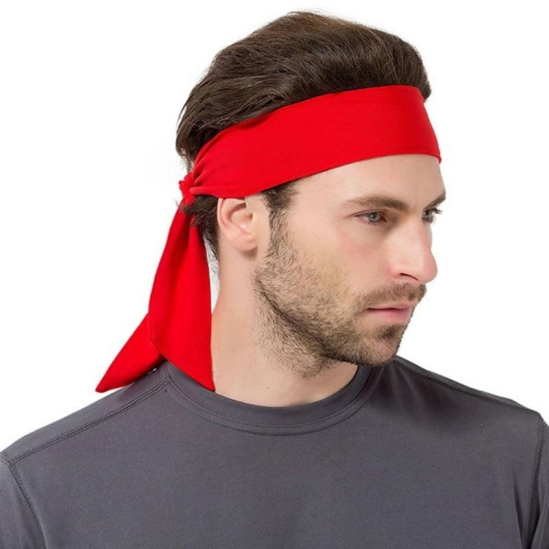 1pc Men Women Sports Sweat Headband Run Tennis Fitness Headband Sports Yoga Hair Ribbon Jogging Sports Accessories Sweatband