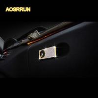 AOSRRUN For Mercedes Benz C Class W205 E Class car accessories decorated interior refitting Glove box lock decoration
