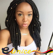 24Roots/Pack Dread Faux Locs Braids Crochet Hair Havana Twist 14″ 18″Synthetic Hair Braids For Beautiful Women Hair Extension