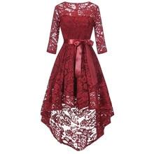 Feitong, женское вечернее кружевное длинное платье с длинным рукавом для подружки невесты, высокое качество