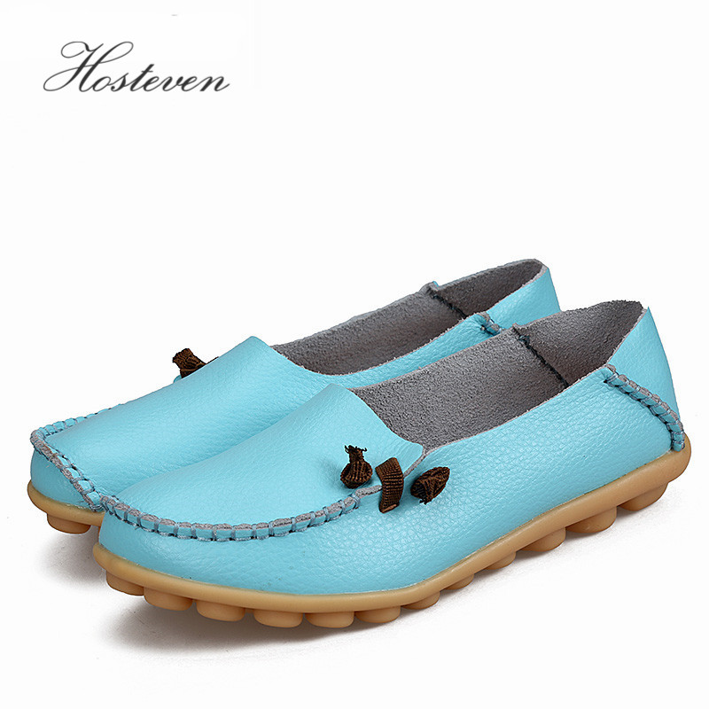 2017 Women's Shoes Genuine Leather Woman Casual Flats Mother Loafers Female Driving Footwear Boat Shoe Solid women s shoes casual genuine leather woman loafers female flats leisure ladies mother driving shoe solid boat shoes