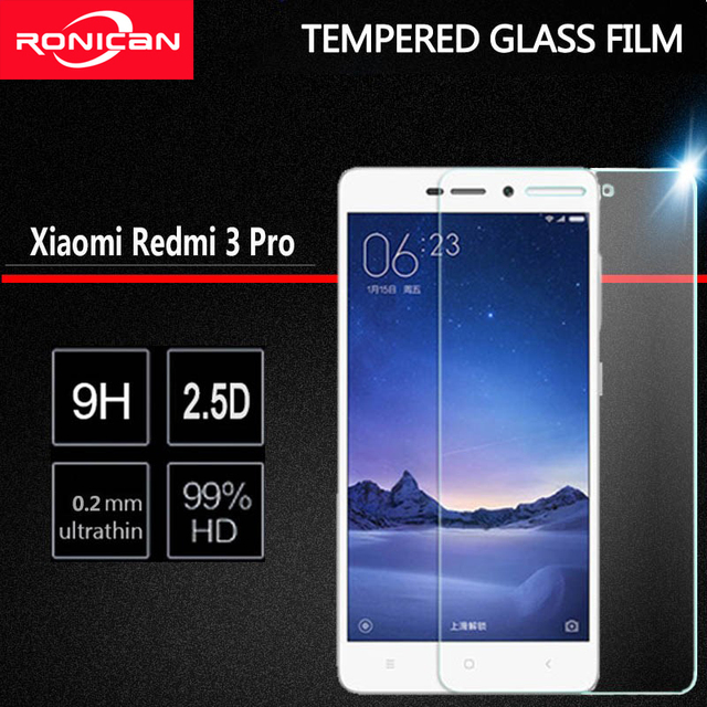 RONICAN Xiaomi Redmi 3S verre trempé Redmi 3 Pro Film protecteur décran Explosion Xiomi Xiaomi Redmi 3 s 3 s 3x 4A verre 5.0 pouces