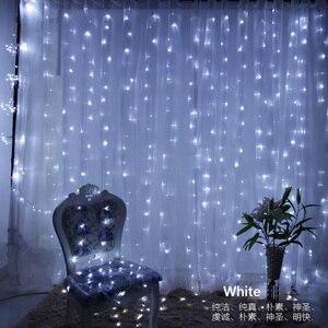 Image 5 - 3x3m 300 led מחרוזת אורות פיית חתונת מסיבת גן led וילון דקור זרי חג מולד אור מחרוזת led אורות קישוט