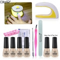 Elite99 4pcs Chameleon UV Nail Gel Polish Set & Kit Base Gel Top Coat Polish Kit Set  Nails Tools And LED UV Lamp Manicure Kit