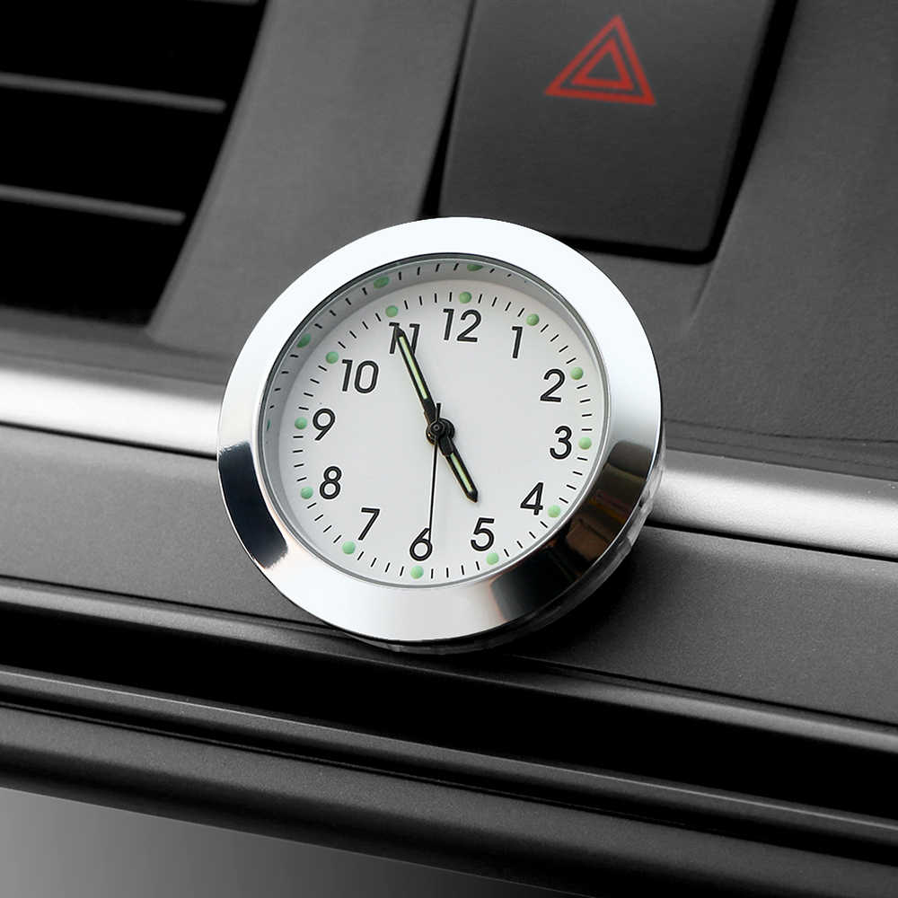 Auto Watch Car Ornament Automotive Digital Pointer Clock Vehicle Car Interior Stick On Decoration Clock Ornaments Accessories