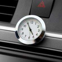 Car Ornament Auto Watch Automotive Digital Pointer Clock Vehicle Car Interior Stick On Decoration Clock Ornaments Accessories(China)