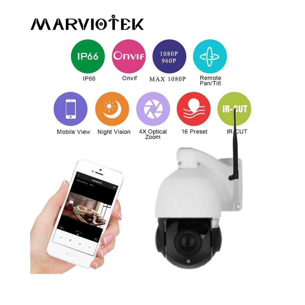 960 P ip камера Беспроводная PTZ скорость купольная камера wifi 4X Zoom наружная камера видеонаблюдения аудио ONVIF IR