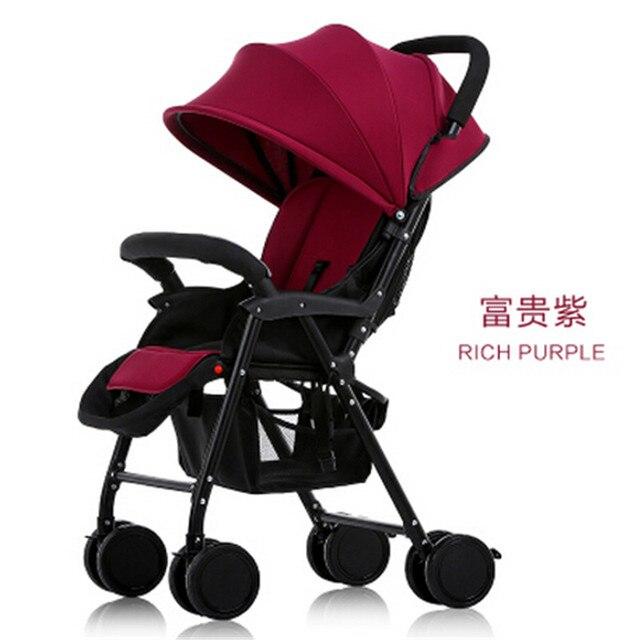 Детская коляска 3 в 1 Хорошие Амортизаторы Deluxe Детские Коляски, Высокий Стул, с 2 Пневматические Колеса + 2 EVA Колеса