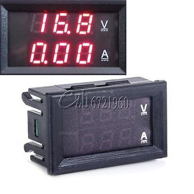 Вольтметр Амперметр постоянного тока 100 В 10A красный светодиод Панель <font><b>AMP</b></font> двойной цифровой вольтметр Калибр