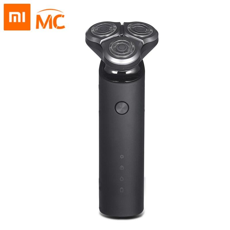 Xiaomi Mijia rasoir électrique pour hommes Rechargeable 3 tête tondeuse à barbe Machine à raser rasoir électrique Main-Sub double lame Turbo