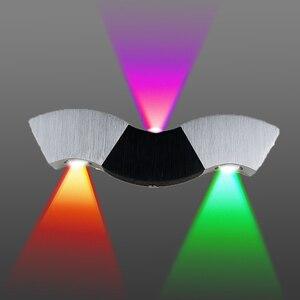 Image 4 - Led Wall Lamp Light 3W 9W Aluminum Sconces Wave Shape Ceiling For Hall Bedroom Corridor Restroom Bathroom 110V 220V JQ