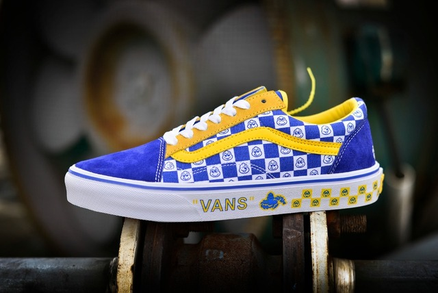 dbf4cc5bcb6eac Original Vans Beyond the Driving Test Old Skool Shoes UnisexBlue checkerboard  plaid Weight lifting shoes Eur 36-44