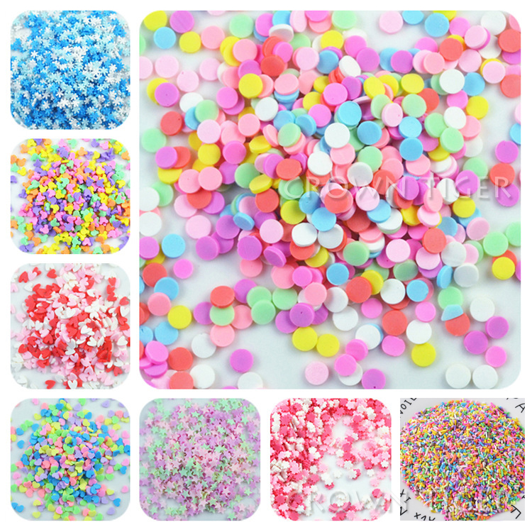 20g Slime Accessories Clay Sprinkles Decoration For Slime Filler DIY Slime Supplies  Charm Chocolate Snow ForMud Particles Toy