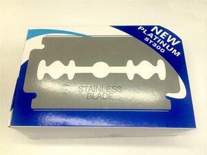 Image 4 - 면도를위한 1000pcs 안전 면도날 면도기에 스테인레스 스틸 남성 면도기 Lames De Rasoir Barber Blades