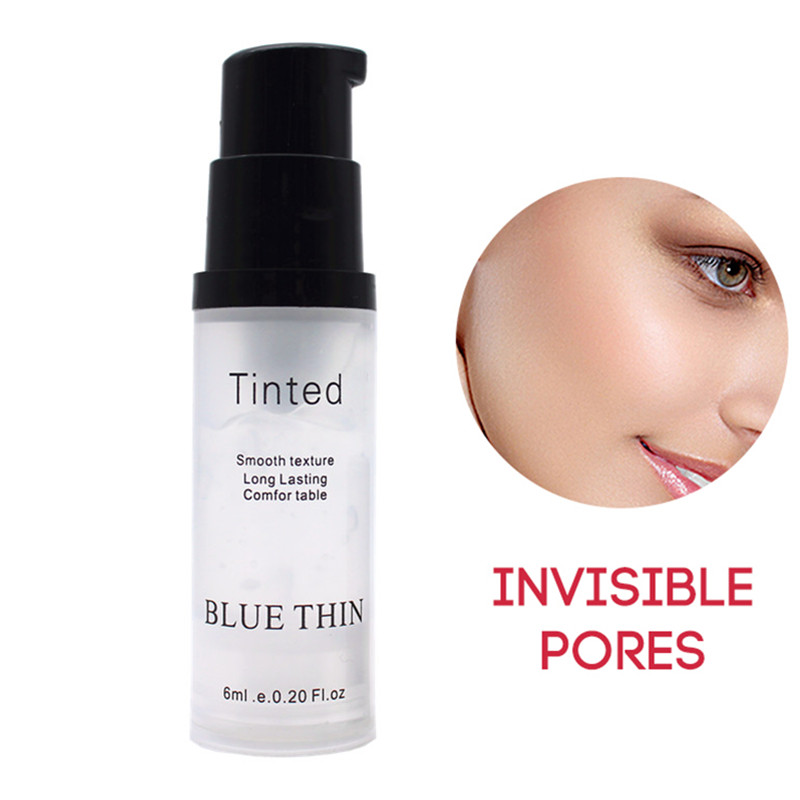 1pc Face Base Primer Makeup 6ml Liquid Smooth Fine Lines Oil-control Brighten Nake Foundation Facial Cream Cosmetic set image