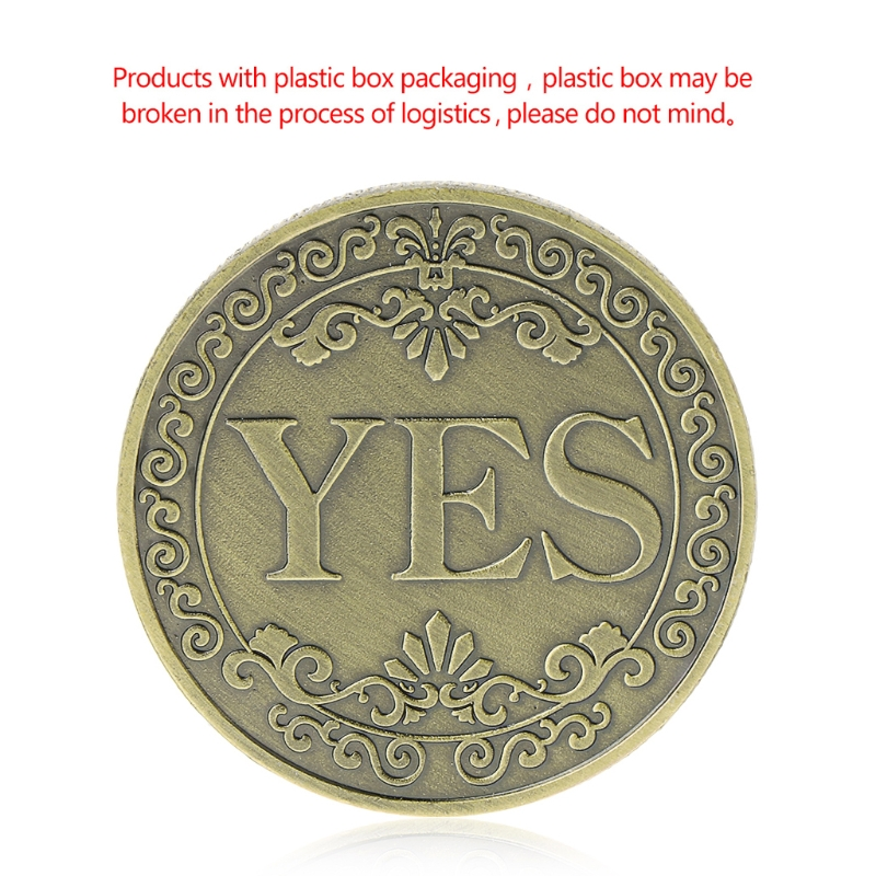 Commemorative Coin Floral YES NO Letter Ornaments Collection Arts Gifts Souvenir DROP SHIPPING