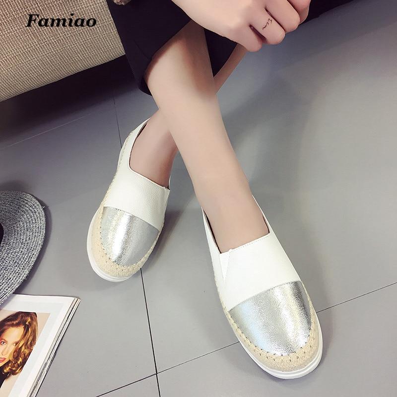 Famiao Glitter Loafers 2018 Sommer Slip auf Wohnungen Fischer Schuhe - Damenschuhe - Foto 5