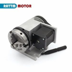 Image 3 - האיחוד האירופי K11 65mm 3 לסת צ אק 65mm 4th ציר & Tailstock CNC חלוקת ראש/סיבוב ציר עבור CNC נתב נגרות חריטת מכונת