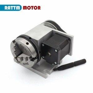 Image 3 - UE K11 65mm 3 mascella mandrino 65 millimetri 4th Assi e Contropunta CNC divisore/Asse di Rotazione per il router di CNC macchina per incisione del legno