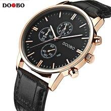 New DOOBO Watches Luxury Brand Men Watch Leather Fashion Quartz-Watch Casual Male Sports Wristwatch Date Clock Montre Homme