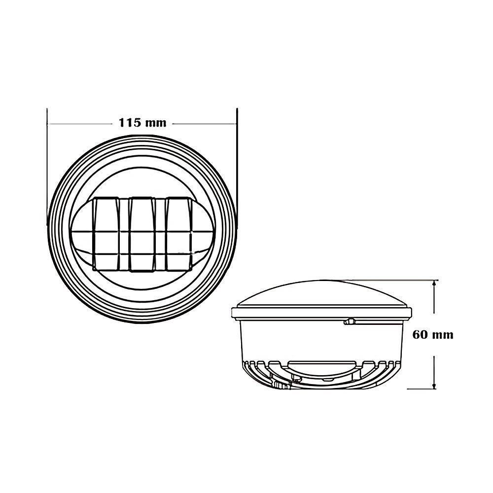 4.5 Inch 30W Auxiliary LED Fog Light Daymaker Passing Lamp for Harley Davidson Motorcycle (5)