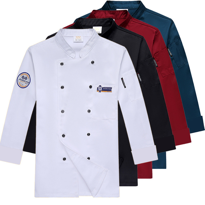 Uniform Chef Clothes Kitchen Hotel Large Size Men Women Chef's Overalls Long Sleeve Autumn Winter Models Baking Catering Clothes