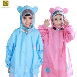 Crianças capa de chuva crianças rainwear poncho chuva acampamento crianças casaco de chuva jaquetas regenjas impermeável rainwear wkr124