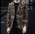 M-5XL Осень и зима мужская Новая мода повседневная шерсть маленький костюм куртка печати пальто певица костюмы плюс размер одежды