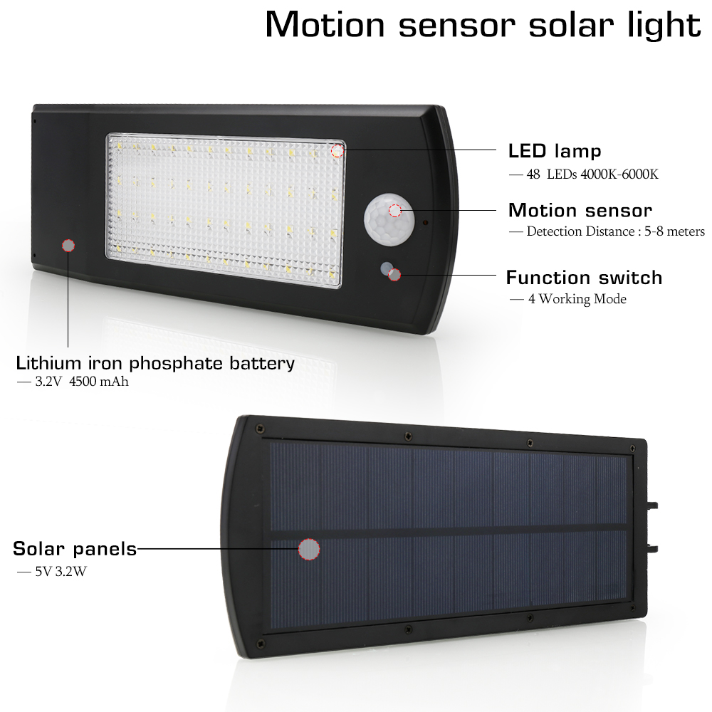 48 led solar luz ao ar livre 02