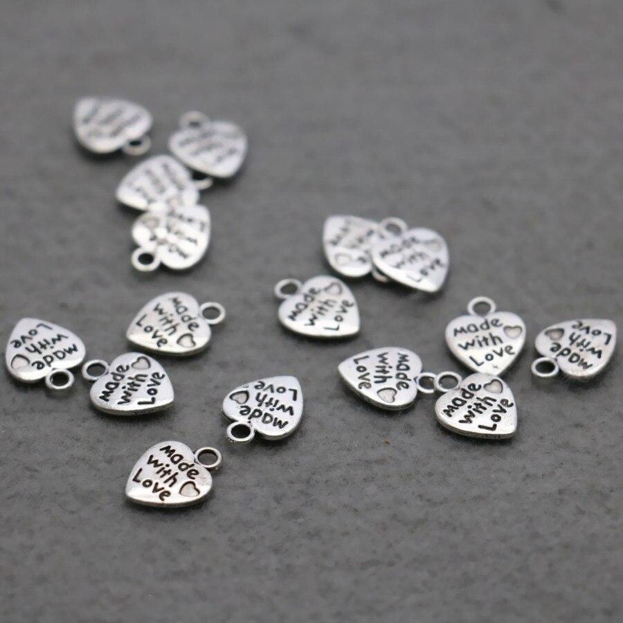 dee6b9d7937524 10 STKS Groothandel hart DIY legering Metalen Hardware Fittingen voor  Accessoire componenten Bevindingen Zilver-plaat knop sieraden Knop