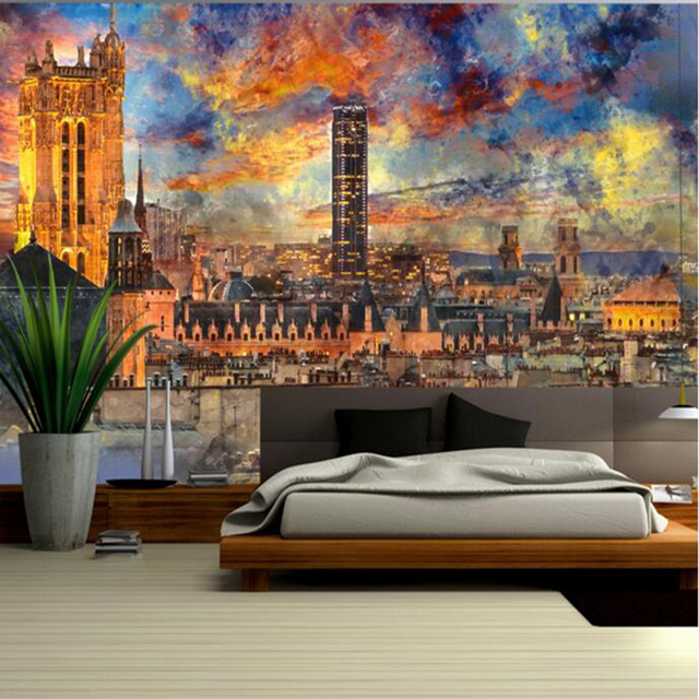 Desktop Wallpapers Home Decor Living Room Photo Wallpaper For Walls Bedroom Abstract Fantasy French Paris Landscape