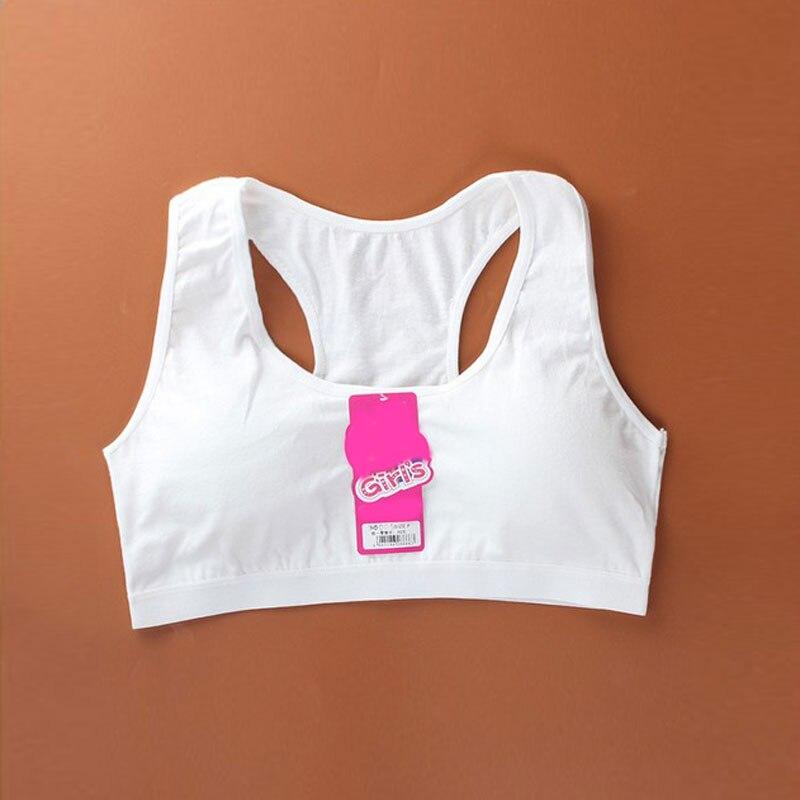 1 Pc Katoenen Ondergoed Kids Bras Voor Baby Meisjes Effen Kleur Kinderen Ondergoed Voor Gezonde Sport Training 8 ~ 18 Jarigen Kleding 100% Origineel