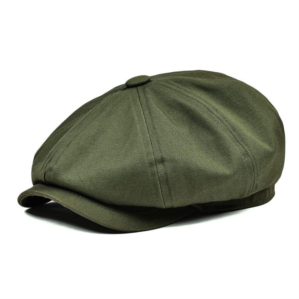 527a245b BOTVELA vendedor gorra para hombres de sarga de algodón sombrero de las  mujeres chico Baker tapas ...