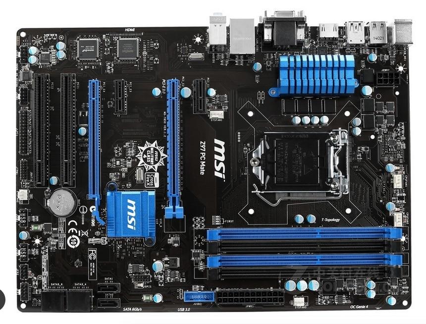 Бесплатная доставка первоначально материнская плата для MSI Z97 PC Коврики DDR3 LGA 1150 32 ГБ USB2.0 USB3.0 Z97 Desktop motherborad