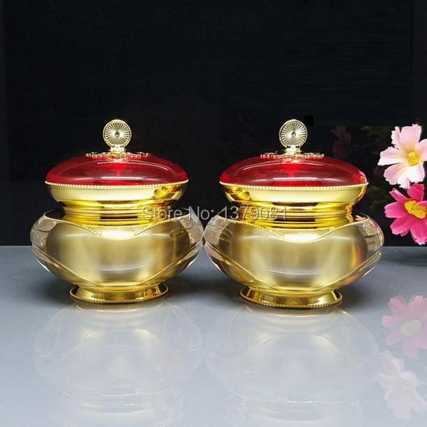 High Quality 30g,50g Acrylic Cream Jar,Gold color 30ml,50ml Empty Cosmetic Packing Container Sample Tins high quality black acrylic cream jar gold cap empty cosmetic bottle container jar lotion pump bottle 30g 50g 30ml 50ml 120ml