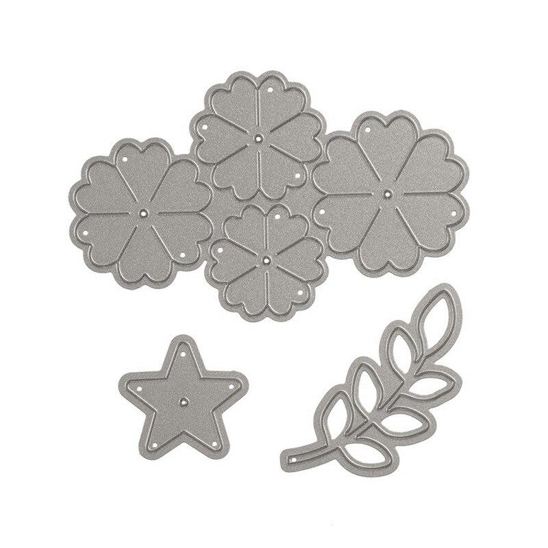 Naifumodo Flower Dies Decor Metal Cutting Scrapbooking for Card Making DIY Embossing Cuts New Craft Grass Star