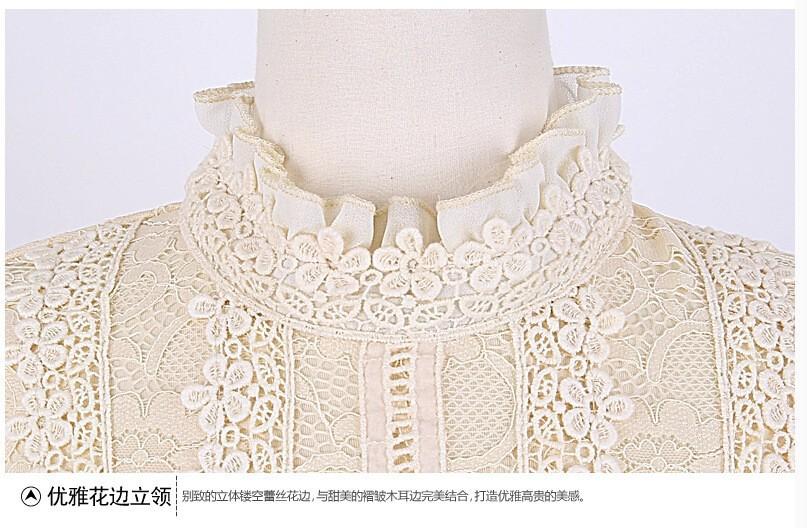 HTB1F2TCGVXXXXbgXVXXq6xXFXXXe - New Lace Shirt Women Clothing Blusas Femininas Blouses