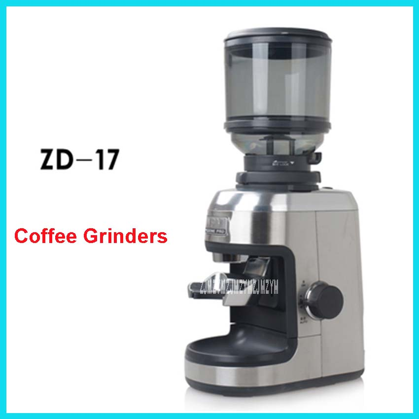 ZD-17Professional Commercial Household Conical Burr Coffee Grinder High Quality Electric Coffee Machine Advanced Grinding System mdj d4072 professional commercial household coffee grinder high quality electric coffee machine advanced grinding 220v 150w 30g page 9